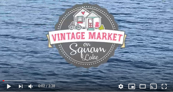view video for vintage market on squam lake